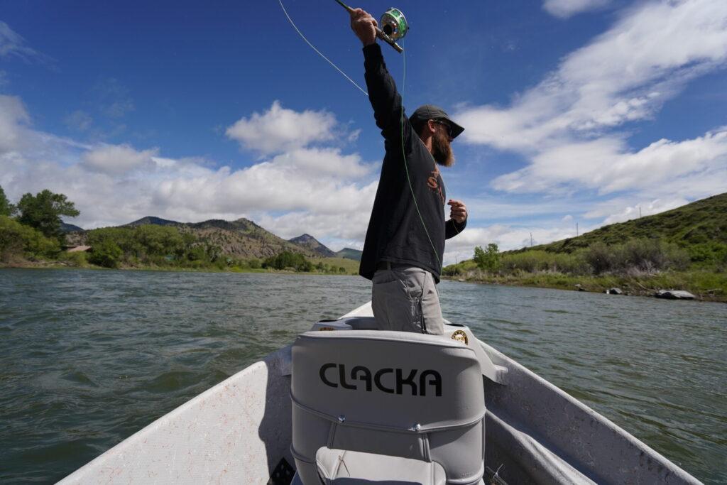 Streamer fishing on the Missouri River in Montana