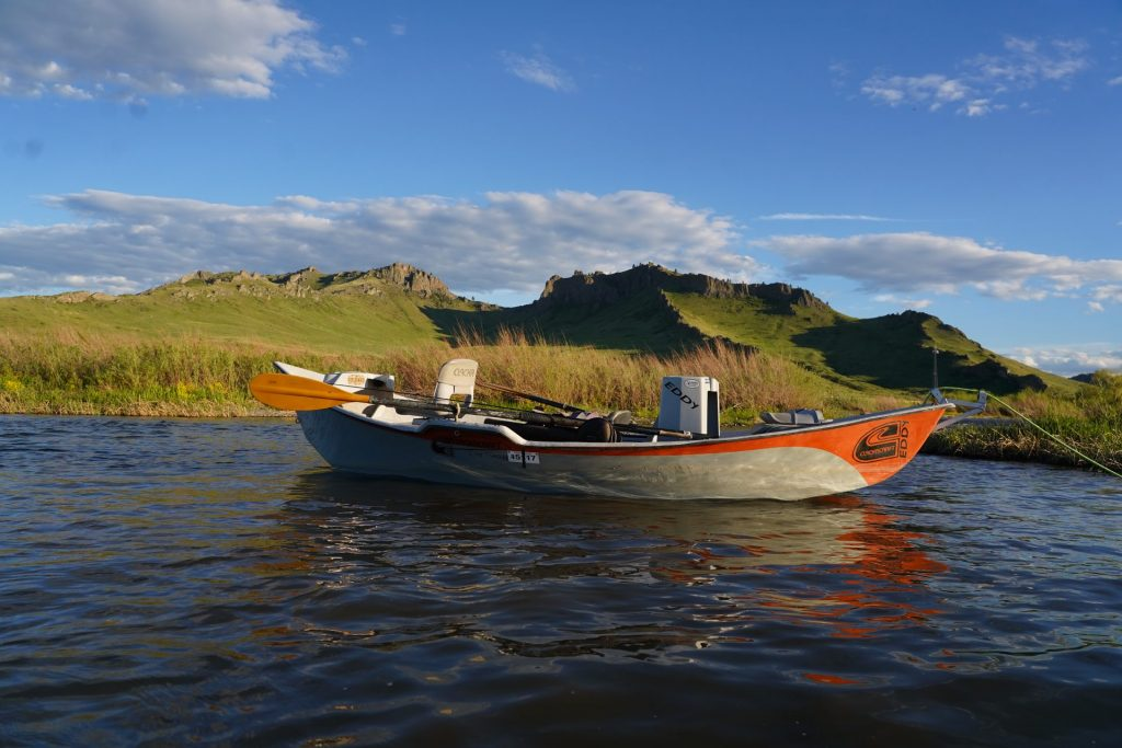 A Drift Boat on The Missouri River in Montana